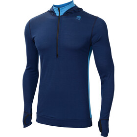 Aclima LightWool Hoodie Herr insignia blue/blithe